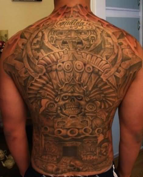 5dee2628a Men Full Back Coverup With Aztec Tattoo