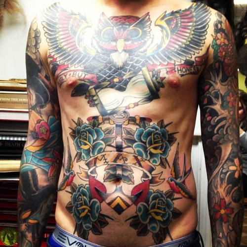 Traditional stomach tattoo men belly tattoo designs amp ideas page 3