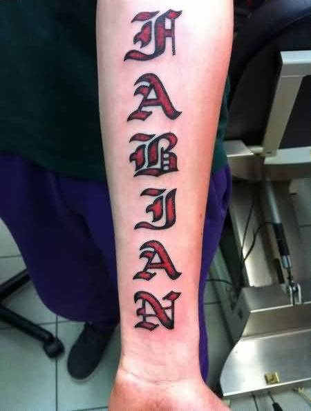 Mind Blowing Ambigram Tattoo On Arm