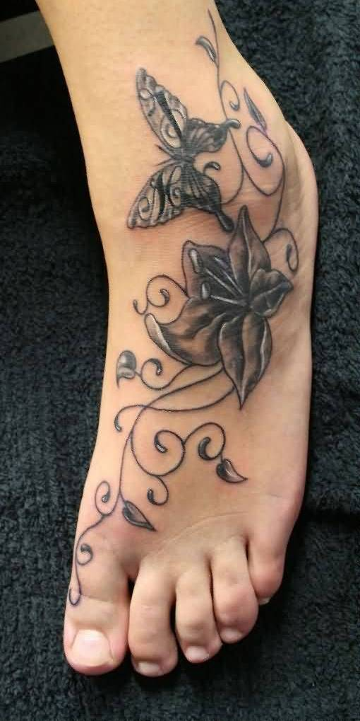 Mind Boggling Butterfly Ankle Tattoo