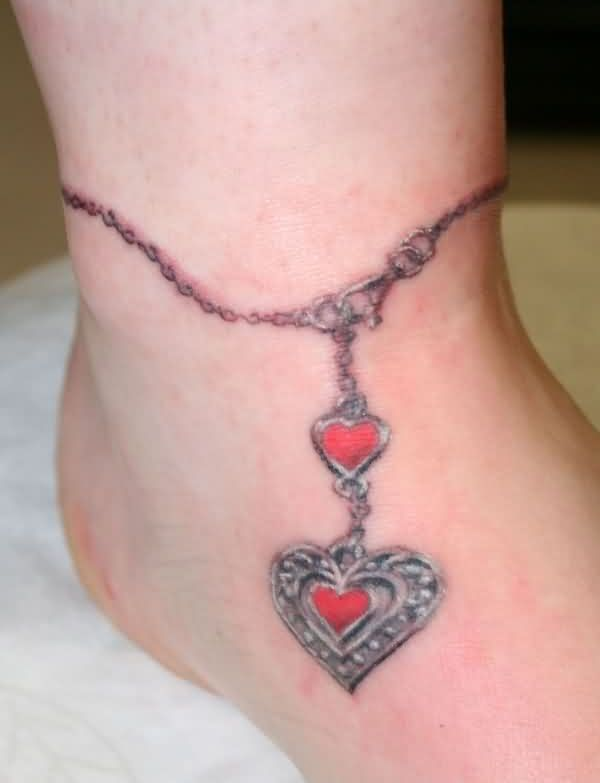 Outstanding Bracelet Tattoo On Ankle