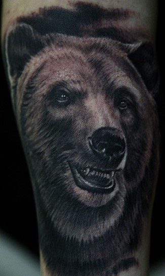 Realistic Bear Leg Tattoo Made By Expert