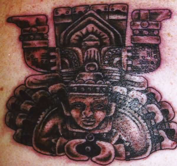 Traditional Aztec Sun God Tattoo Made By Ink