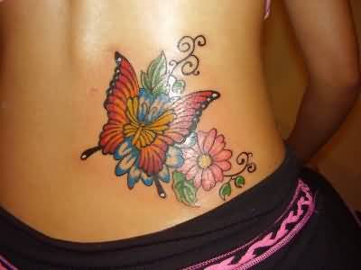 Amazing Butterfly Flowers Tattoo Design By Expert 1