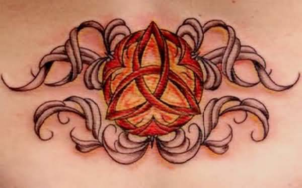Amazing Colorful Celtic Knot Tattoo 29