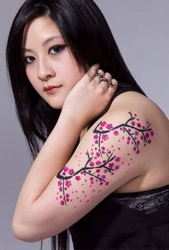Amazing Simple Upper Sleeev Cherry Blossom Tattoo Made By Ink 6