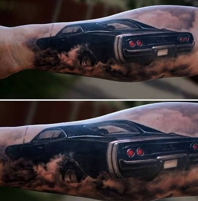 Awesome Famous Car Tattoo Design For Sleeve 5
