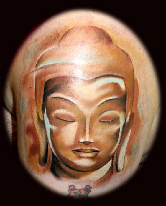Brilliant Buddha Head Tattoo Made By Expert    4