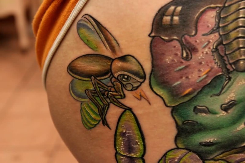 Brilliant Bug Tattoo Made By Artist      6
