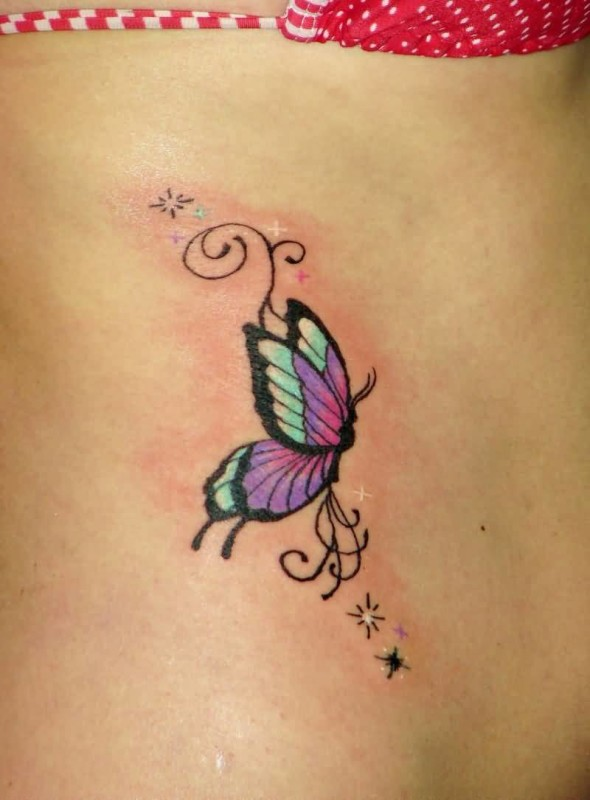 flying butterfly tattoo ideas and flying butterfly tattoo designs page 3. Black Bedroom Furniture Sets. Home Design Ideas