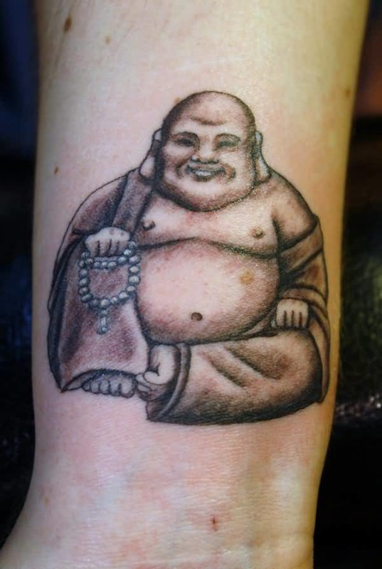 Cute Laughing Buddha Tattoo Design | Tattooshunter.com