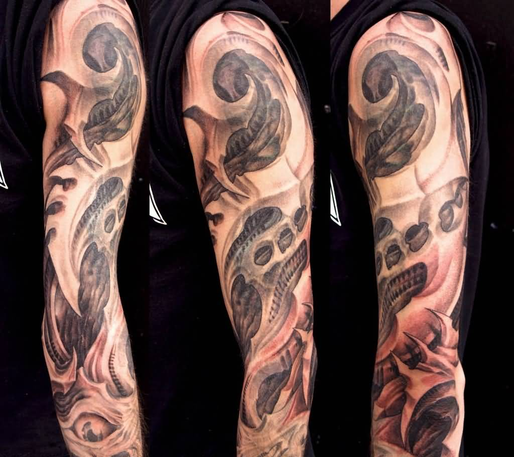 Biomechanical Sleeve Tattoos Images Pictures Page 2