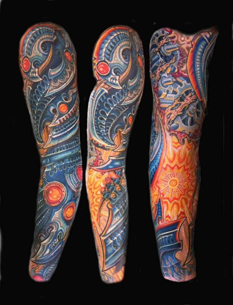 Biomechanical tattoos designs - Related Tattoo Designs