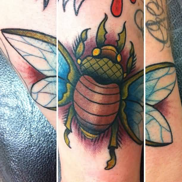 Innovative Bug Tattoo Design By Expert        4