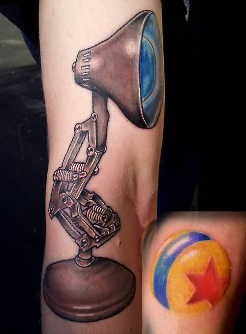 Latest Blue Lamp Bulb Tattoo Made By Ink 5