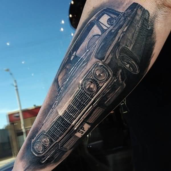 Latest Classic Car Tattoo Design By Ink 5