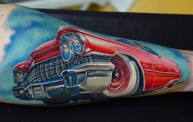 Latest Red Car Tattoo Made By Ink 2
