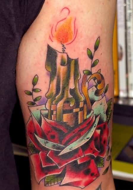 candle tattoo ideas and candle tattoo designs. Black Bedroom Furniture Sets. Home Design Ideas