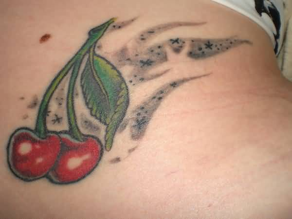 Latest Red Cherry Tattoo Design Made By Ink 6