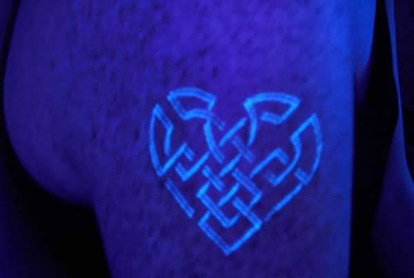 Men Upper Sleeve Cover Up With Blacklight Celtic Tattoo 20