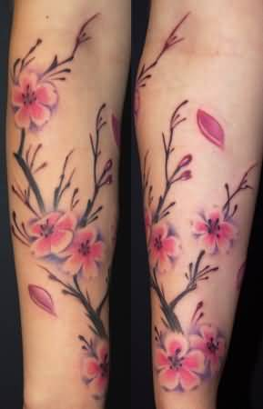 Mind Blowing Cherry Blossom Tattoo Design Made By Artist 1