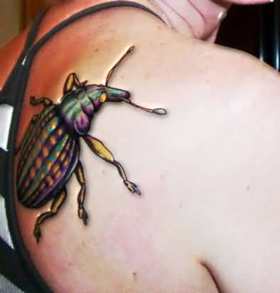Mind Blowing Crowling Bug Tattoo Made By Artist          1