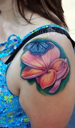 Butterfly back tattoo art and ideas tattoos hunter page 3 for Breast cancer butterfly tattoos