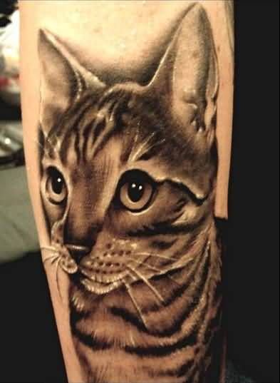 Realistic Cat Tattoo Design Made By Expert 1