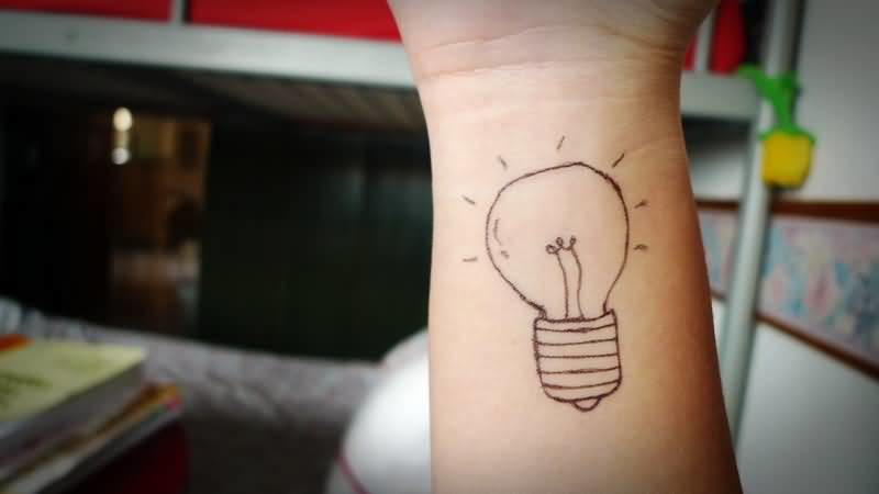 Simple Outline Bulb Make On Wrist 2