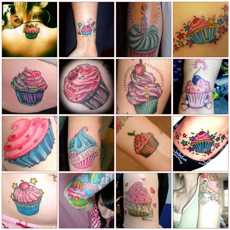 Tattoo Of Nice Looking Collaboration Of Yummy Cakes 7