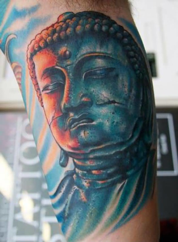 Terrific Blue Buddha Tattoo Design By Ink     7