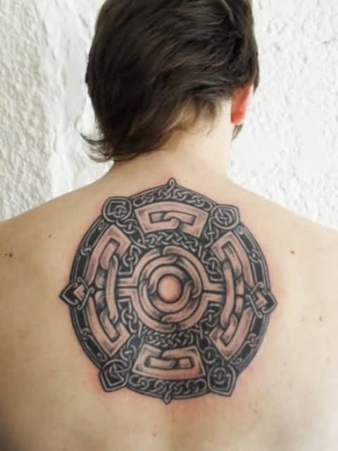 Upper Back Cover Up With Latest Celtic Tattoo DEsign 30