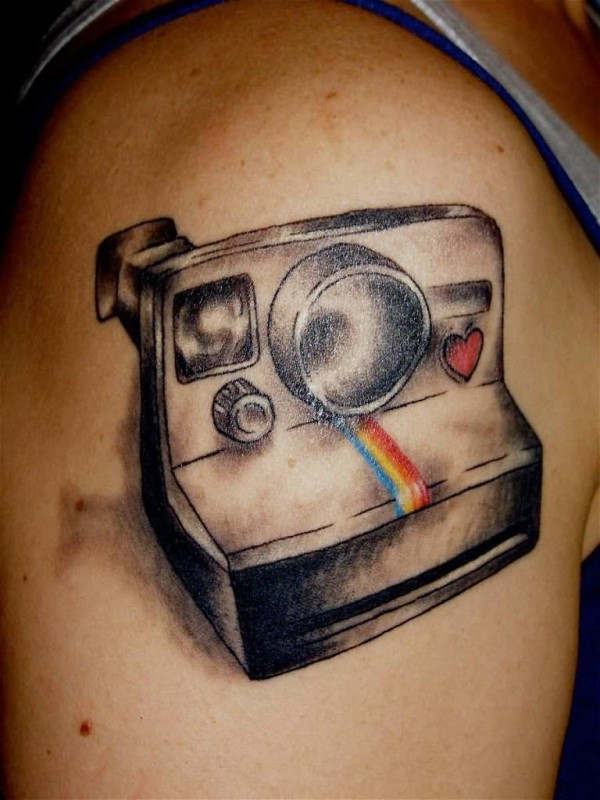 Upper Sleeve Cover Up With Camera Tattoo For Handsome Men 7