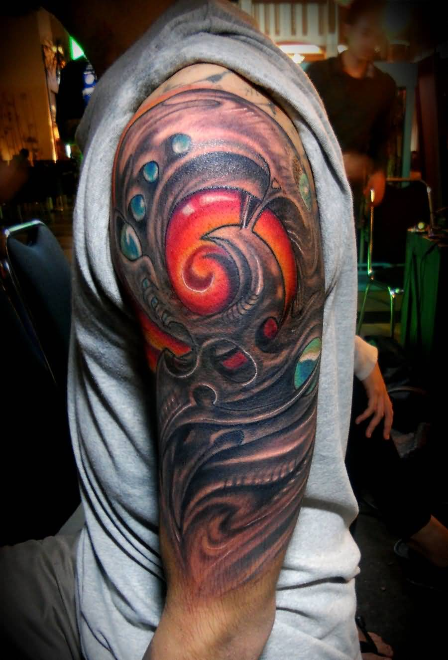 Top biomechanical sleeve tattoos ideas page 2