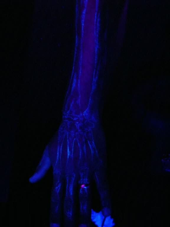 Wonderful Blacklight X-ray Tattoo Make On Sleeve1
