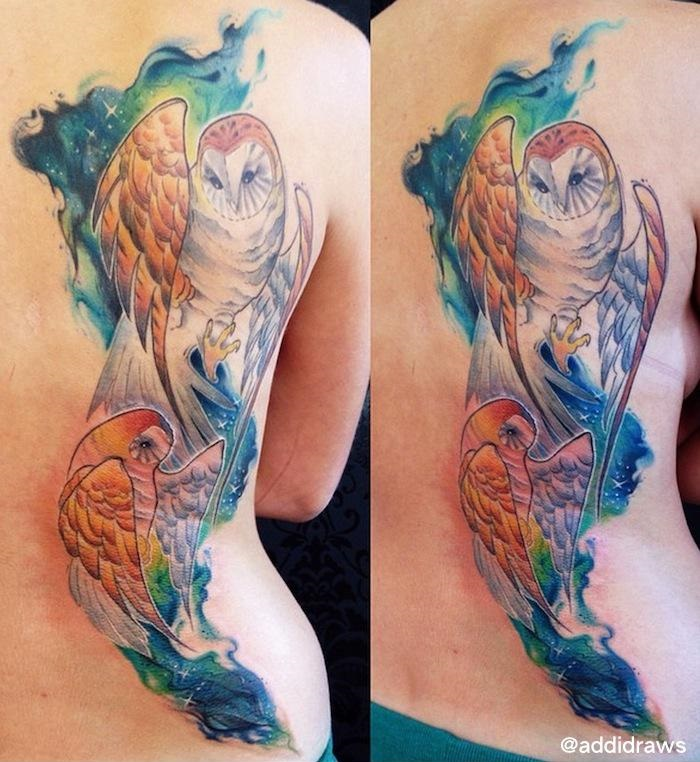 Amazing-Owls-in-Space-tattoo 7675767