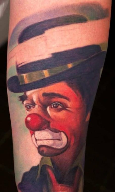 Awesome Sad Clown Tattoo Design Made By Colorful Ink