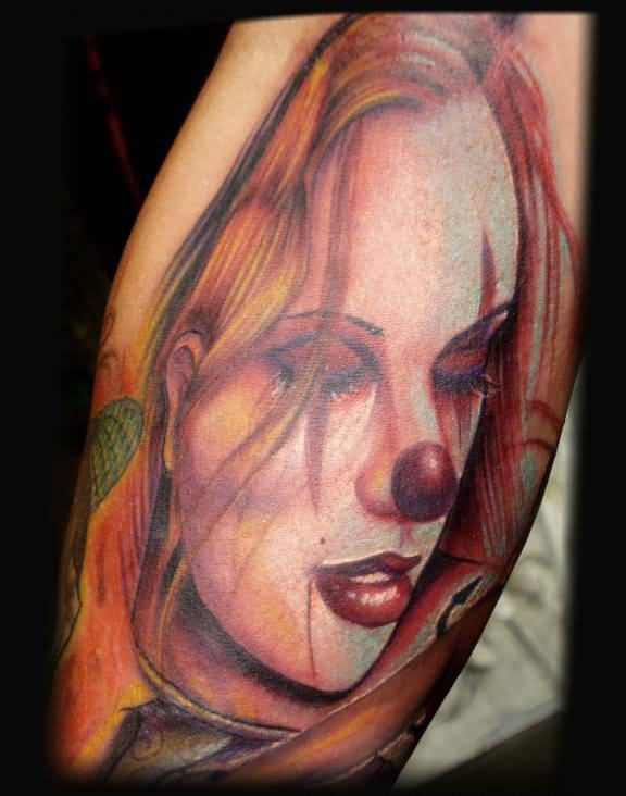 Clown girl tattoo ideas and clown girl tattoo designs for Girl tattoo artist