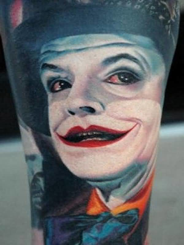 Brilliant Clown Face Tattoo Made By Colorful Ink