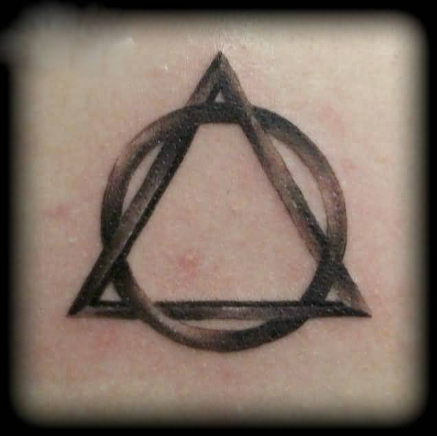 Brilliant Triangle And Circle Tattoo Design