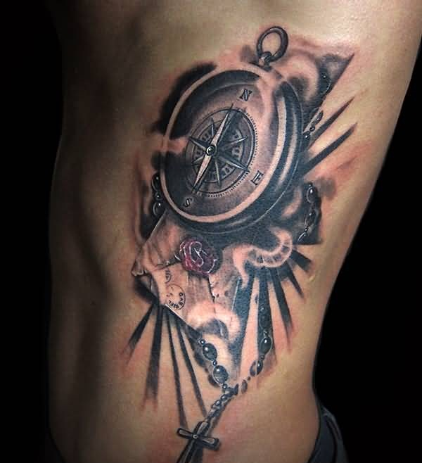 Compass tattoo ideas and compass tattoo designs page 3 for Men side tattoo