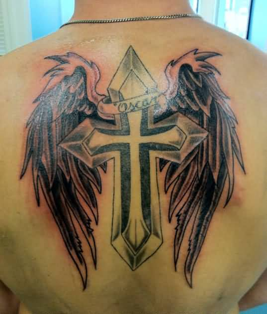 Cross wings tattoo ideas and cross wings tattoo designs for Tattoo cross with wings