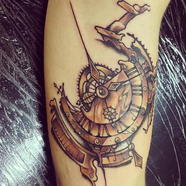 clock tattoo ideas and clock tattoo designs page 12