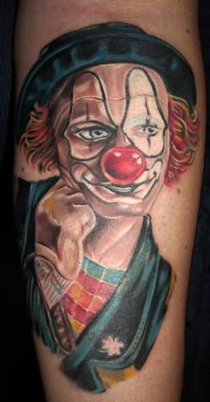 Mind Blowing Colorful Crazy Clown Tattoo Design Made By Ink