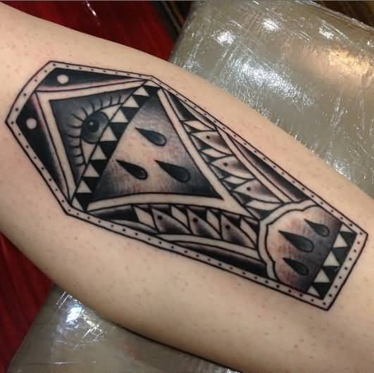 Mind Blowing Eye  Black Coffin Tattoo Design Made By Ink
