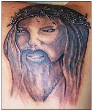 0911267ee Outstanding Jesus Christian Face Tattoo Design