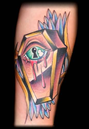 Coffin tattoo ideas and coffin tattoo designs page 10 for Blue blood tattoo