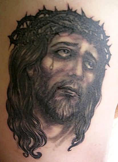 religious jesus hold christian men tattoo design made by artist. Black Bedroom Furniture Sets. Home Design Ideas
