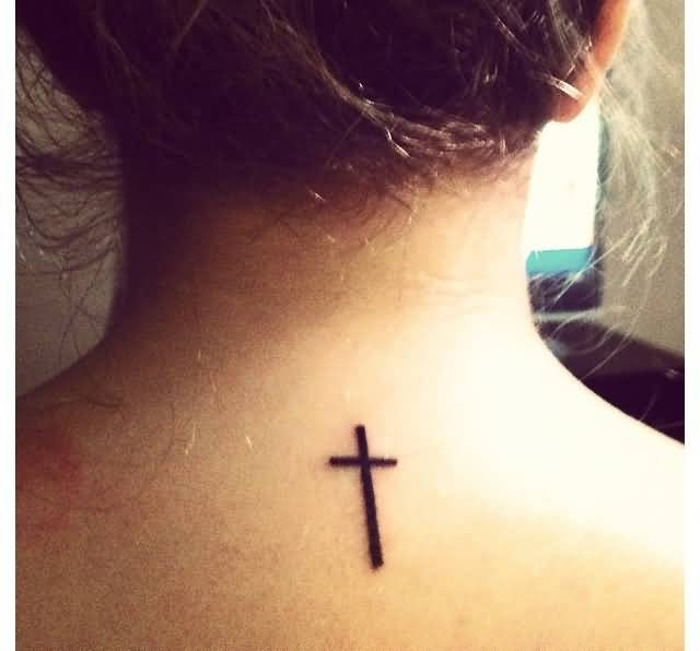 Simple Cross Tattoos For Women On Your Back Pretty Hot Women Show ...