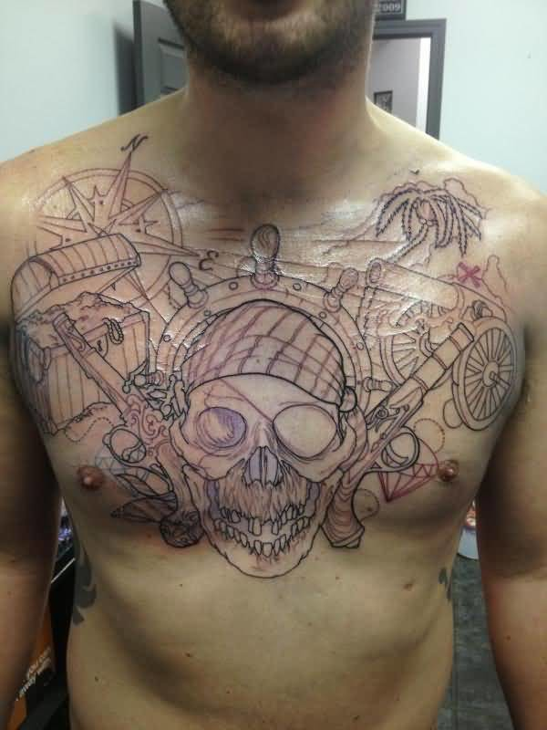 Chest tattoo ideas and chest tattoo designs page 5 for Simple chest tattoos for guys